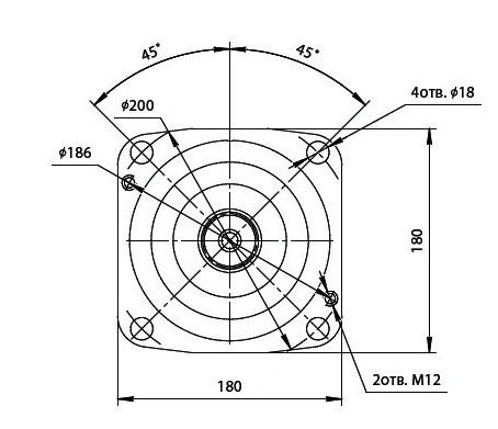 303.3.112.241 Гидромотор с регулятором по гиперболе