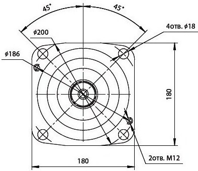 303.3.112.242 Гидромотор с регулятором по гиперболе