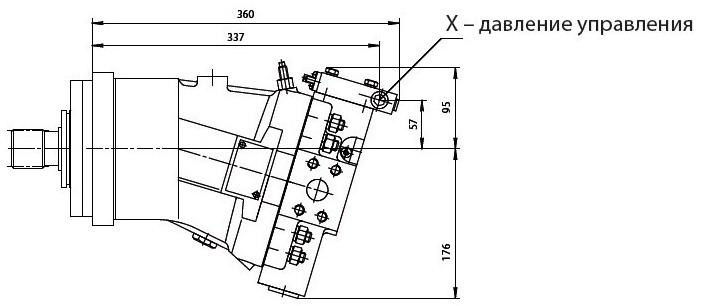 303.3.112.501 гидромотор с пропорциональным негативным гидравлическим управлением